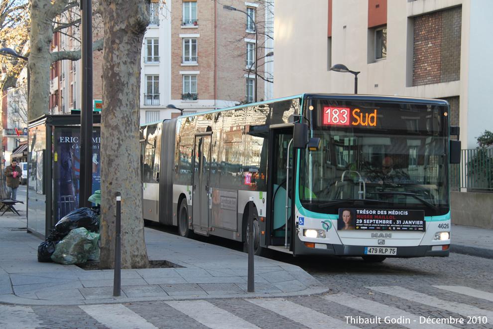 Paris bus 183 - Bus 183 aeroport orly sud porte de choisy ...