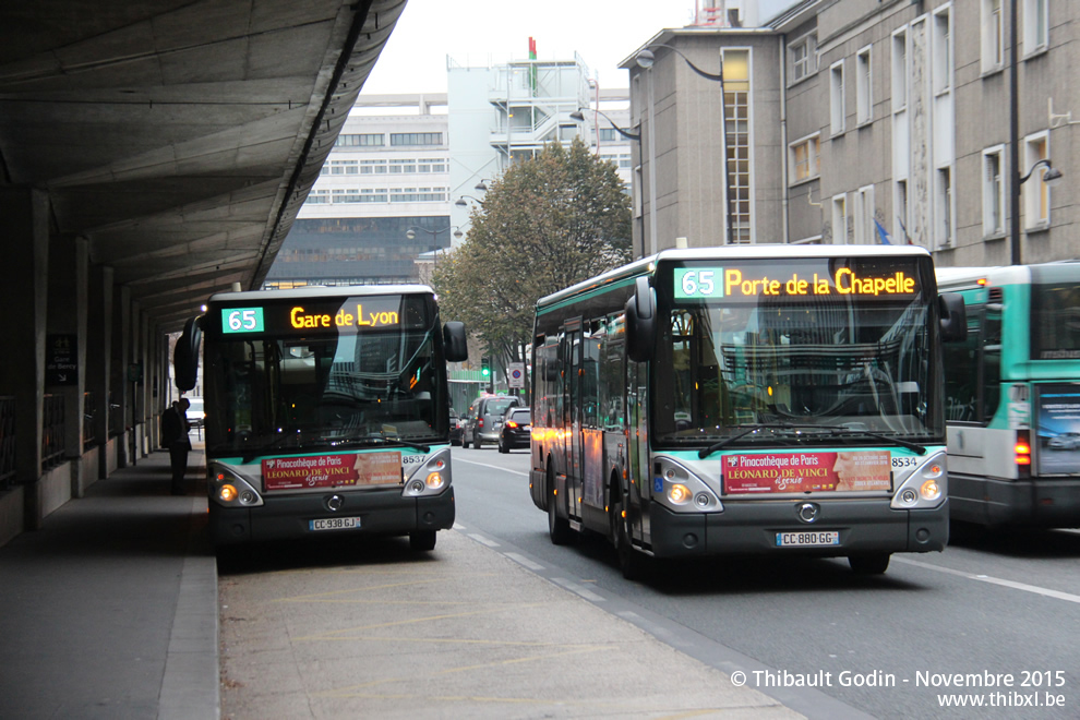Paris bus 65 - Stade porte de la chapelle ...